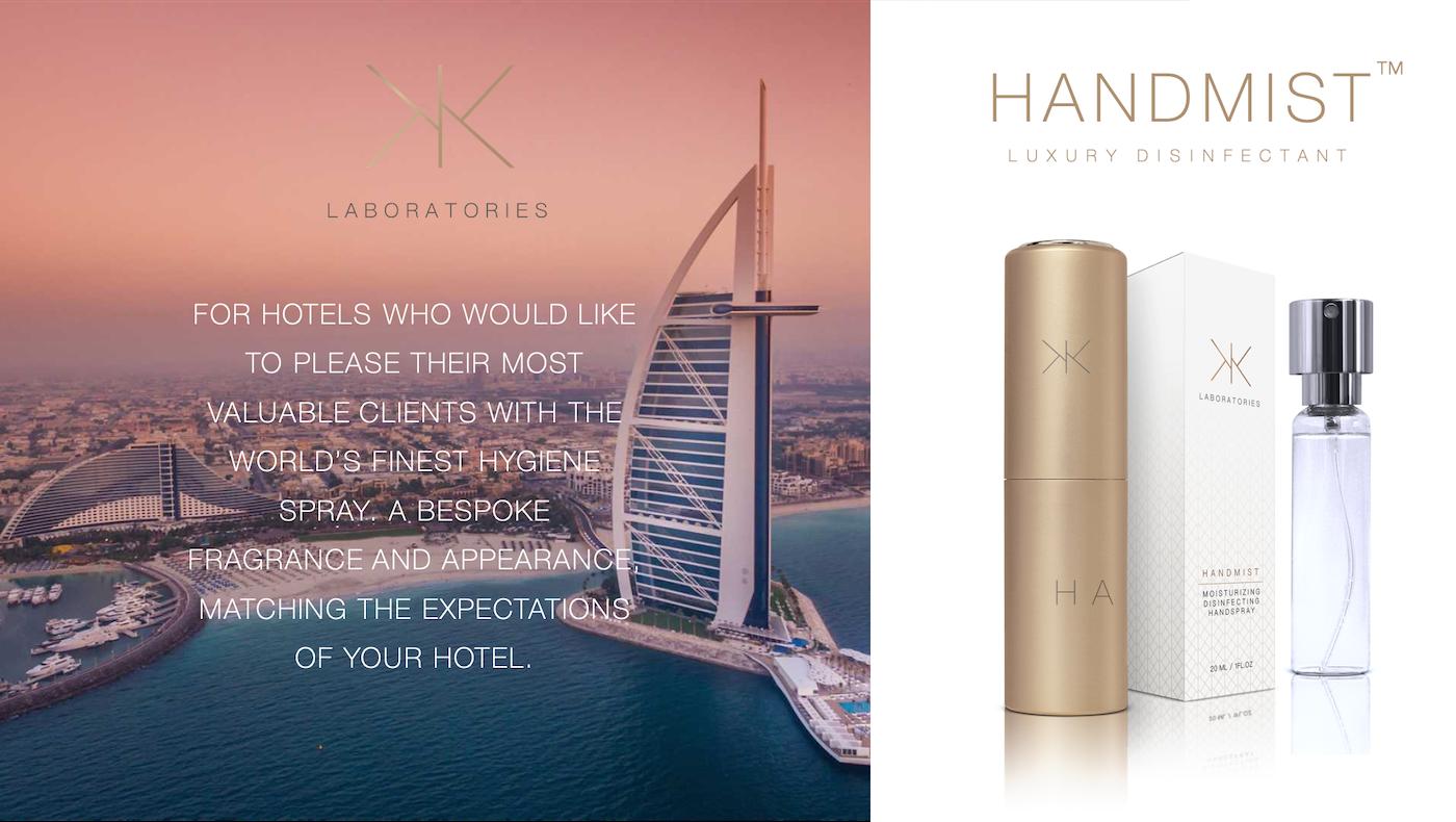 Handmist Fragrance, Luxury Hotel Disinfectant, Hygiene Spray for Hotels