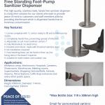 Hotel Foot Pump Sanitiser Dispener