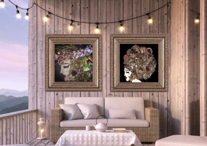 Outdoor Hotel Art, Premium Acrylic Wall Art, Weatherproof Garden Art