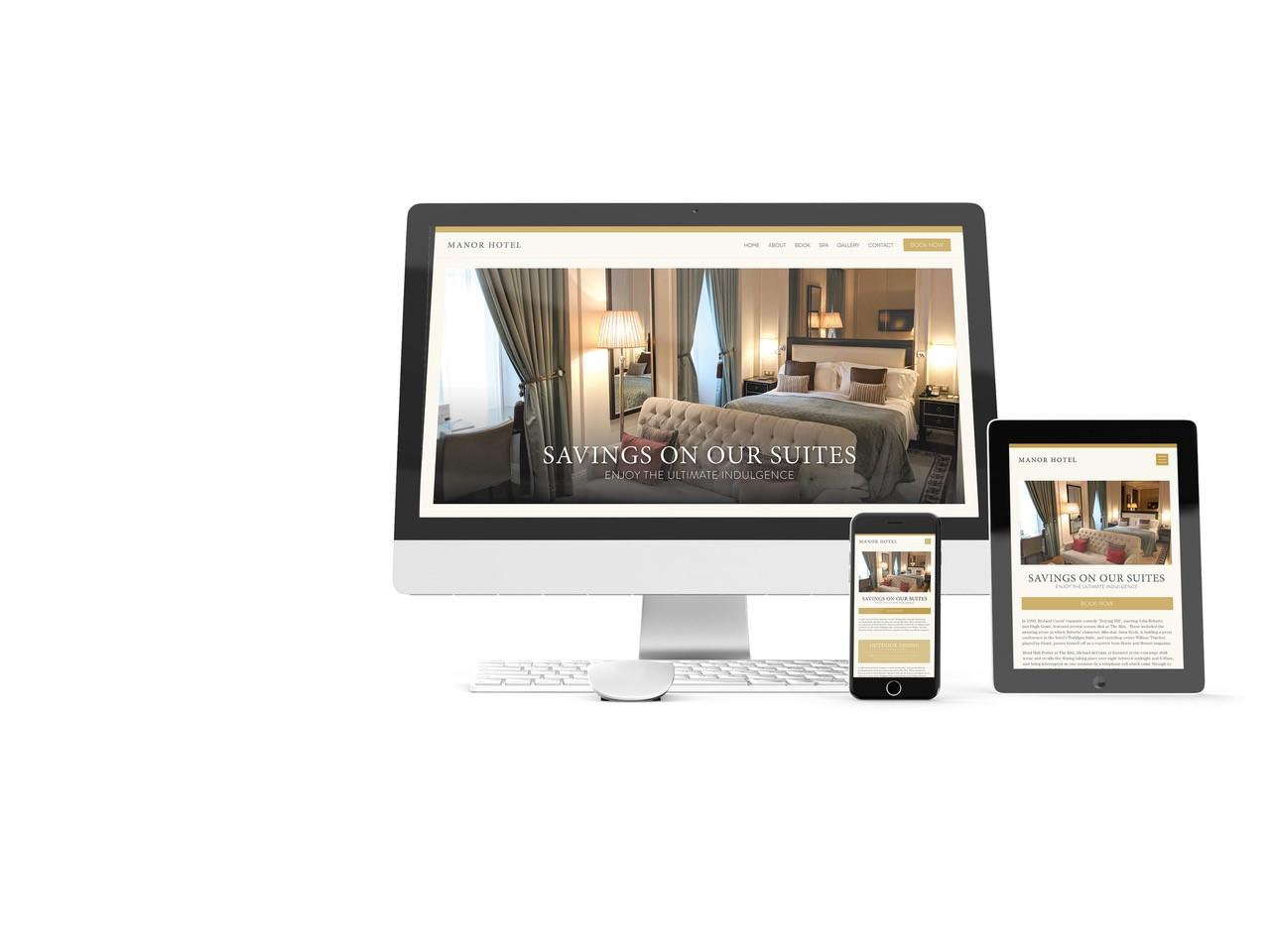 HOTEL WEBSITE DESIGN / HOTEL DIGITAL MARKETING / HOTEL GRAPHIC DESIGN