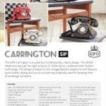 Carrington SIP Data Sheet
